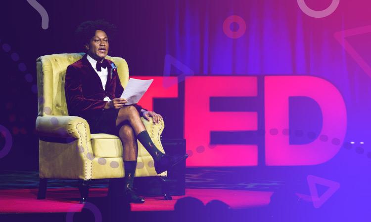 Speaker sur scène de TED