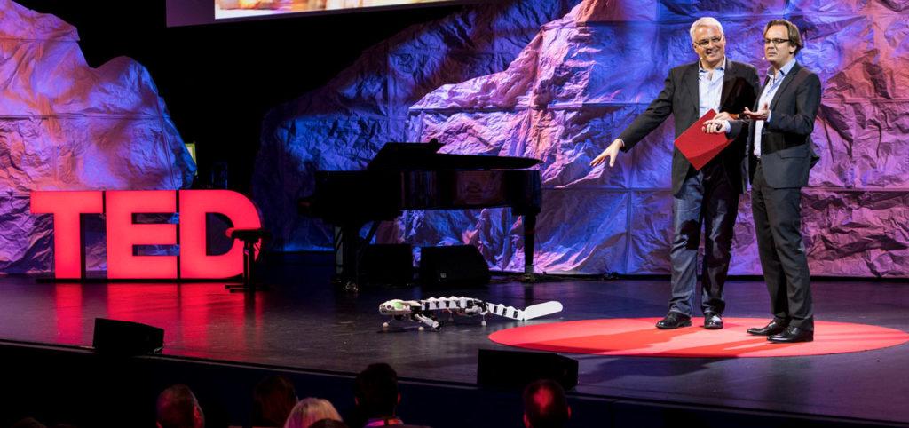 TEDGlobal Geneva, robot demonstration on mainstage